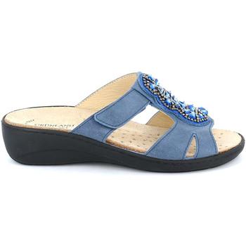 Cipők Női Papucsok Grunland CE0710 Kék