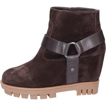 Cipők Női Bokacsizmák Hogan BK694 Barna