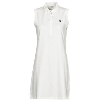 Ruhák Női Rövid ruhák U.S Polo Assn. AMY DRESS POLO SLEEVELESS Fehér