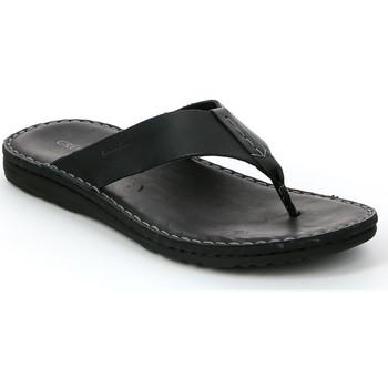Cipők Férfi Lábujjközös papucsok Grunland CI1153 Fekete