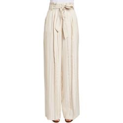 Ruhák Női Lenge nadrágok Gaudi 011FD25029 Bézs