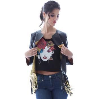 Ruhák Női Kabátok / Blézerek Grace Shoes DF131 Fekete