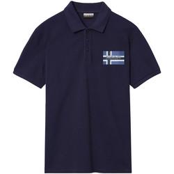 Ruhák Férfi Rövid ujjú galléros pólók Napapijri NP0A4E2K Kék