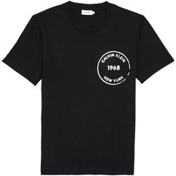 Ruhák Férfi Rövid ujjú pólók Calvin Klein Jeans K10K104509 Fekete