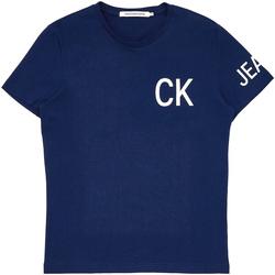 Ruhák Férfi Rövid ujjú pólók Calvin Klein Jeans J30J312754 Kék