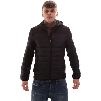 Ruhák Férfi Steppelt kabátok Lumberjack CM69422 001 601 Fekete