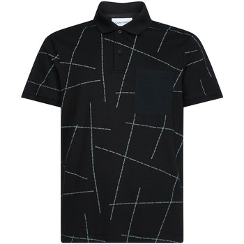 Ruhák Férfi Rövid ujjú galléros pólók Calvin Klein Jeans K10K105189 Fekete