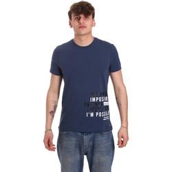 Ruhák Férfi Rövid ujjú pólók Gaudi 011BU64071 Kék