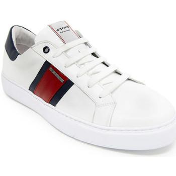 Cipők Férfi Rövid szárú edzőcipők Exton 861 Fehér