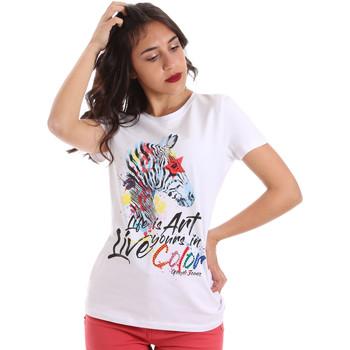 Ruhák Női Rövid ujjú pólók Gaudi 011BD64003 Fehér