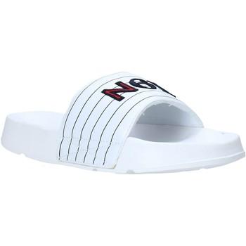 Cipők Férfi strandpapucsok Navigare NAM019050 Fehér