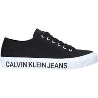 Cipők Férfi Rövid szárú edzőcipők Calvin Klein Jeans B4S0112X Fekete