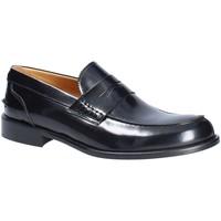 Cipők Férfi Mokkaszínek Exton 102 Fekete