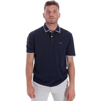 Ruhák Férfi Rövid ujjú galléros pólók Les Copains 9U9020 Kék