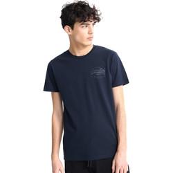 Ruhák Férfi Rövid ujjú pólók Superdry M1010067A Kék