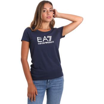 Ruhák Női Rövid ujjú pólók Ea7 Emporio Armani 8NTT63 TJ12Z Kék