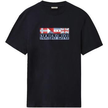 Ruhák Férfi Rövid ujjú pólók Napapijri NP0A4E35 Kék