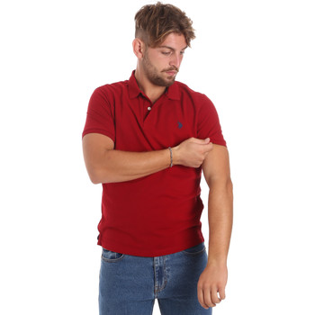 Ruhák Férfi Rövid ujjú galléros pólók U.S Polo Assn. 55957 41029 Piros