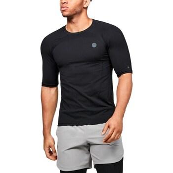 Ruhák Férfi Rövid ujjú pólók Under Armour UA Rush HG Seamless Compression Fekete