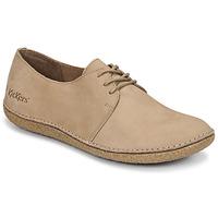 Cipők Női Oxford cipők Kickers HOLSTER Bézs