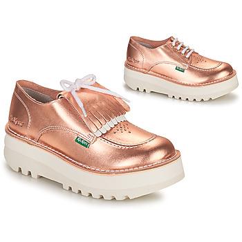 Cipők Női Oxford cipők Kickers KICKOUCLASS Rózsaszín / Fémes