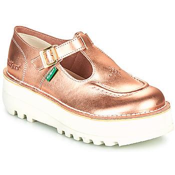 Cipők Női Balerina cipők  Kickers KICKOUSTRAP Rózsaszín / Fémes