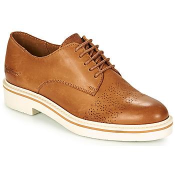 Cipők Női Oxford cipők Kickers OXFORK Teve