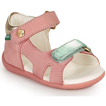 Cipők Lány Szandálok / Saruk Kickers BINSIA-2 Rózsaszín