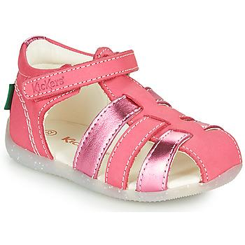 Cipők Lány Szandálok / Saruk Kickers BIGFLO-2 Rózsaszín