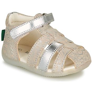 Cipők Lány Szandálok / Saruk Kickers BIGFLO-2 Ezüst
