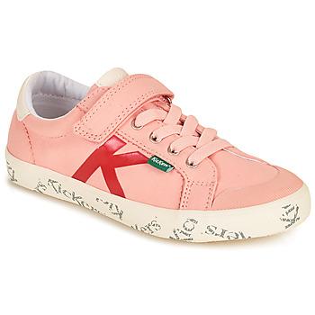 Cipők Lány Rövid szárú edzőcipők Kickers GODY Rózsaszín