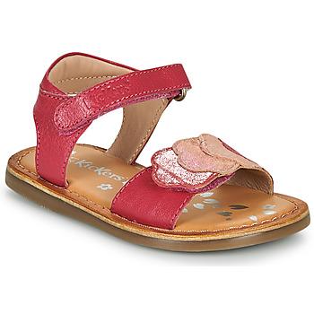 Cipők Lány Szandálok / Saruk Kickers DYASTAR Rózsaszín