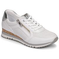 Cipők Női Rövid szárú edzőcipők Marco Tozzi  Fehér