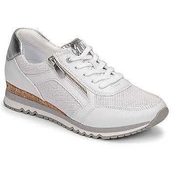 Cipők Női Rövid szárú edzőcipők Marco Tozzi BELLA Fehér