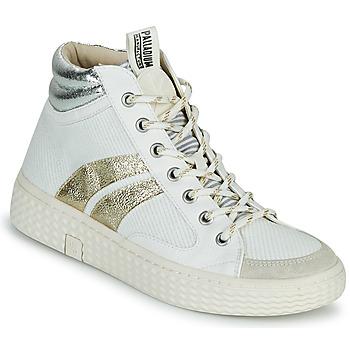 Cipők Női Magas szárú edzőcipők Palladium Manufacture TEMPO 03 TXT Fehér