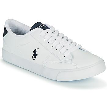 Cipők Gyerek Rövid szárú edzőcipők Polo Ralph Lauren THERON IV Fehér / Tengerész