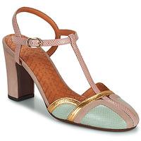 Cipők Női Félcipők Chie Mihara INMA Bézs / Rózsaszín / Arany