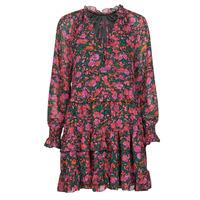 Ruhák Női Rövid ruhák Moony Mood NOMINA Fekete  / Rózsaszín