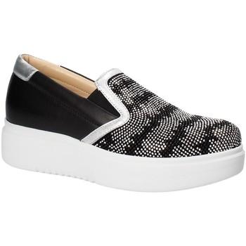 Cipők Női Belebújós cipők Exton E02 Fekete
