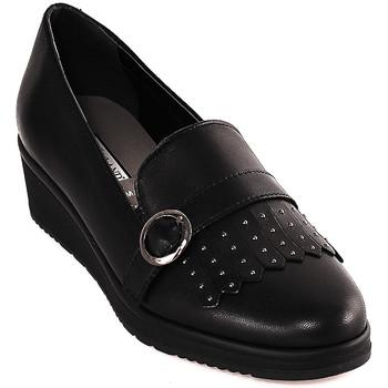 Cipők Női Mokkaszínek Grunland SC3141 Fekete