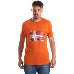 Ruhák Férfi Rövid ujjú pólók Napapijri N0YIJ4 Narancssárga