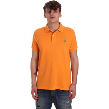 Ruhák Férfi Rövid ujjú galléros pólók U.S Polo Assn. 55957 41029 Narancssárga