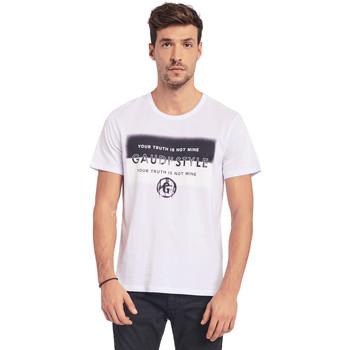 Ruhák Férfi Rövid ujjú pólók Gaudi 011BU64108 Fehér