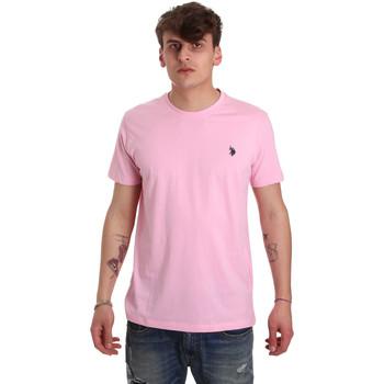 Ruhák Férfi Rövid ujjú pólók U.S Polo Assn. 57084 49351 Rózsaszín