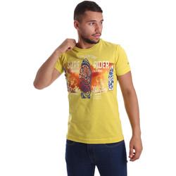 Ruhák Férfi Rövid ujjú pólók Navigare N631017 Sárga