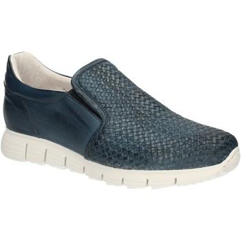 Cipők Férfi Mokkaszínek Exton 339 Kék