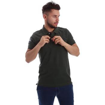 Ruhák Férfi Rövid ujjú galléros pólók Key Up 255QG 0001 Zöld