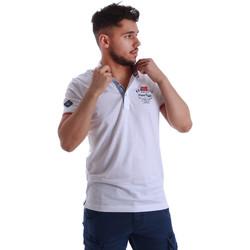Ruhák Férfi Rövid ujjú galléros pólók Key Up 262RG 0001 Fehér