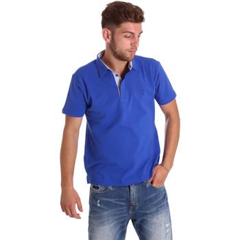 Ruhák Férfi Rövid ujjú galléros pólók Bradano 000116 Kék