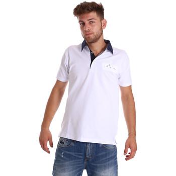 Ruhák Férfi Rövid ujjú galléros pólók Bradano 000115 Fehér